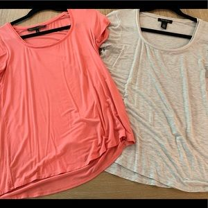 WHBM Cream and Coral Top Bundle
